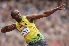 Aficionados de Jamaica celebraron el nuevo Oro de Usain Bolt