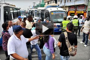Video: así fueron los disturbios en el paro de transportadores de Cali