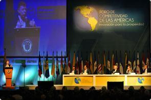 Presidente Santos inaugura Foro de Competitividad de las Américas
