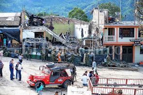 Video: las ruinas de la estación de Policía de Inzá, Cauca, tras atentado de las Farc