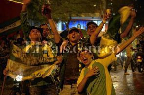 Video: la pasión verdiblanca se tomó las calles de Cali