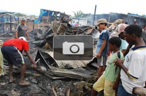 Incendio acabó con 20 casas en Aguablanca