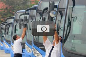 Los nuevos buses del MÍO