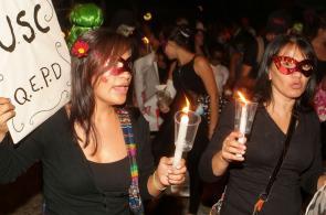 Marcha nocturna de estudiantes en Cali