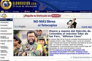 Prensa mundial registró abatimiento de 'Cano'