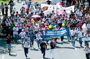Así fue la marcha de los estudiantes en Cali
