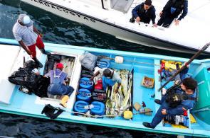 Imágenes de los operativos y capturas por pesca ilegal en el Pacífico