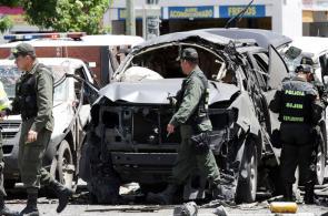 Impresionantes imágenes del atentado en el norte de  Bogotá
