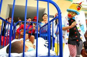 Imágenes: Hospital Universitario del Valle recibió una inyección de alegría