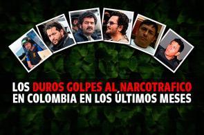 Gráfico: los últimos golpes a grandes capos del narcotráfico en Colombia
