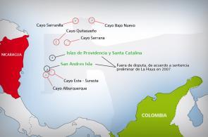 Gráfico: panorama del conflicto limítrofe entre Colombia y Nicaragua