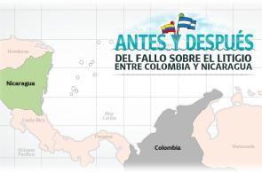 Gráfico: antes y después del fallo sobre el litigio entre Colombia y Nicaragua
