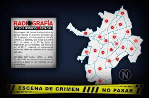 Gráfico: la geografía de los homicidios que se cometen en Cali