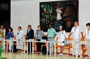 Las primeras fotos de la reunión en Cuba entre víctimas, Gobierno y Farc