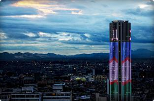 Torre Colpatria se viste con la bandera de Cali como homenaje en su... - elpais.com.co