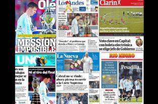 "La prensa argentina titula: ""Tortura de selección"""