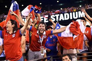 Aficionados de la Selección de Chile festejaron el título de la Copa América