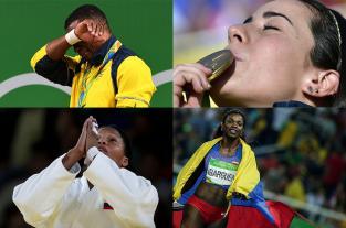 En imágenes, los momentos más emotivos de los colombianos en Río 2016