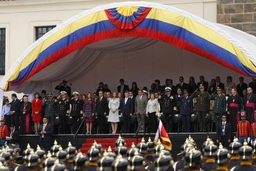 Soldados heridos en combate lideraron desfile del 20 de julio en Bogotá
