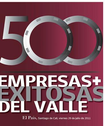 Ranking de las 500 empresas  más vendedoras del Valle en el 2010
