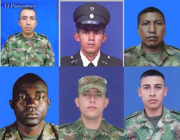 Alias Jaimito y Duver, responsables de la muerte de siete militares en Cauca