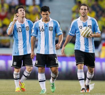Con goles de Messi y Agüero, Argentina derrotó a la selección Colombia en el 'Metropolitano'