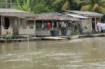 El río Anchicayá está que se sale por culpa del invierno