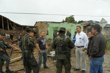 Farc ocasionaron daños en 33 casas y un colegio en el centro del Cauca