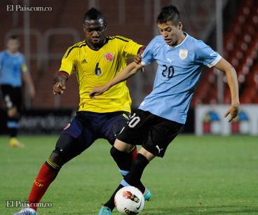 Con gol de Jhon Córdoba, la selección Colombia Sub-20 derrotó a Uruguay y es líder