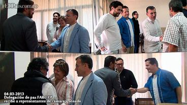 Polémica por reunión de congresistas y delegados de las Farc en Cuba