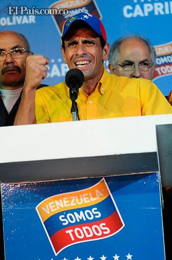 Henrique Capriles no reconoce resultado y pide al CNE un conteo voto a voto