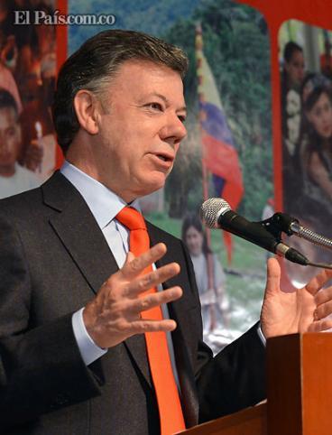 Presidente Santos entregó informe sobre proceso de paz a países caribeños
