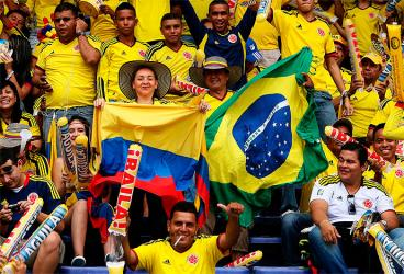 ¡Gracias mi selección Colombia! ¡Estamos en Brasil!