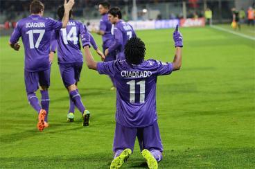 Juan Guillermo Cuadrado marcó en la derrota de Fiorentina ante Inter