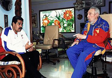 Fidel Castro se reunió con Nicolás Maduro en La Habana