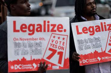La capital de EE.UU. legaliza el uso recreativo de la marihuana
