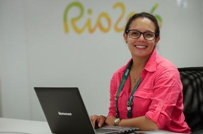 La 'Chechi' Baena, de patinadora a periodista en los Juegos Olímpicos de Río