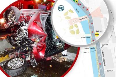 ¿Qué pasó en el aparatoso accidente de la Avenida Colombia?