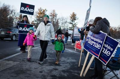 Donald Trump y Sanders, virtuales ganadores en primarias de New Hampshire