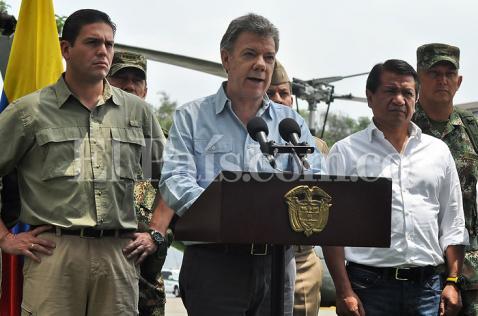 Presidente Santos sostiene reunión para definir plazos del proceso de paz con las Farc