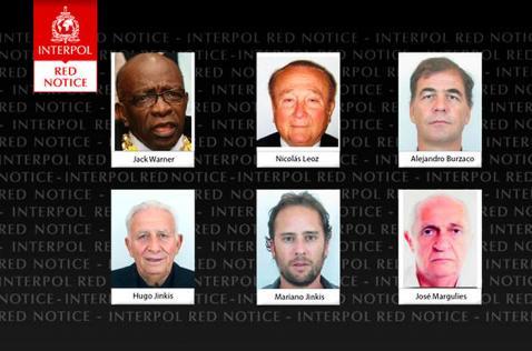 Interpol emite circular roja contra dos exresponsables de la Fifa