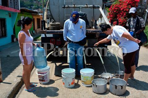 La ola de calor también tiene a Yumbo sufriendo por falta de agua