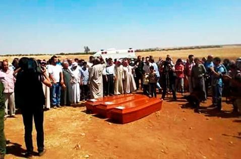 Entierran a niño sirio que murió ahogado en Turquía junto a su madre y hermano