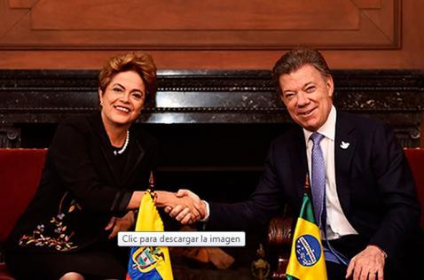 Dilma Rousseff y Juan Manuel Santos firmarán acuerdos de inversión