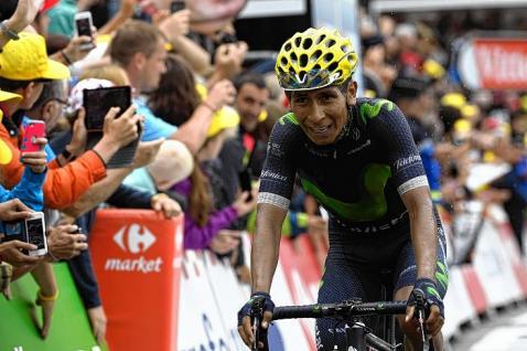 El colombiano Nairo Quintana es el nuevo líder de la Vuelta a España