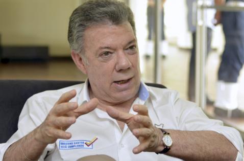 """""""Apenas estén los acuerdos se convocará el plebiscito"""": presidente Santos"""
