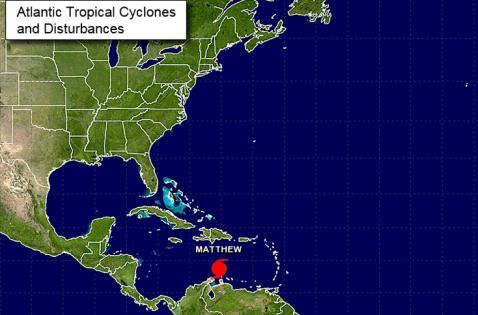 Colombia en alerta roja ante intensificación de huracán Matthew en el Caribe