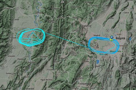 Aterriza en El Dorado avión que cubría ruta Bogotá - Santiago y regresó de emergencia