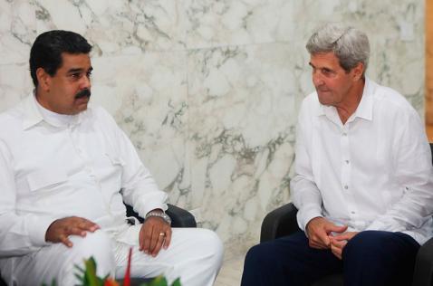 Maduro y Kerry se reunieron en Cartagena tras firma de acuerdo de paz