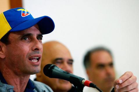Capriles niega inicio de diálogo entre la oposición y el gobierno en Venezuela
